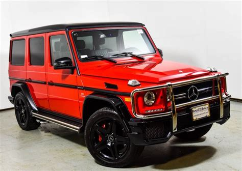 Simply research the type of used car you're interested in and then select a car from our massive database to. 2017 Mercedes-Benz AMG G 63 4MATIC SUV | designo manufaktur Magma Red (Matte Finish) U15974