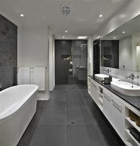 idee decoration salle de bain salle de bains grise une With idee salle de bain grise