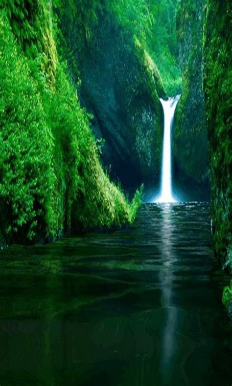 amazing waterfall   wallpaper android app