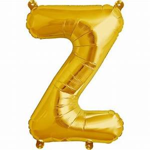 letter z foil balloon small foil balloons shindigscomau With small gold letter balloons