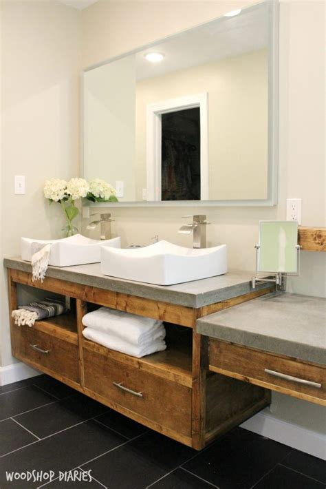 Modern Bathroom Makeup Vanity by How To Build A Diy Modern Floating Vanity Or Tv Console
