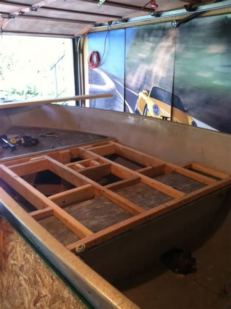 Jon Boat Garage Storage Ideas by How To Add A Front Deck To A V Hull 15 Aluminum Meyer V