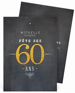 Faire Part Anniversaire 60 Ans : faire part anniversaire 60 ans homme ~ Edinachiropracticcenter.com Idées de Décoration
