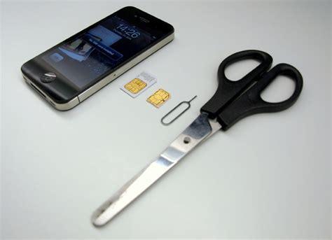 iphone 4 sim card cut template