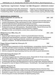 personal injury paralegal resume sample recentresumescom With immigration paralegal resume