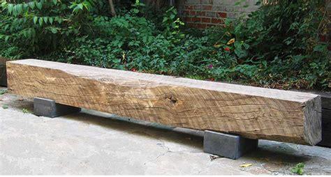 beam bench reclaimed hardwood concrete