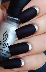 Black nails mysterious and very sexy