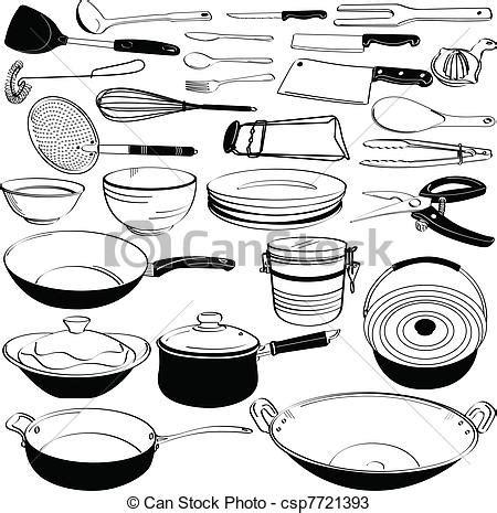 dessin d ustensiles de cuisine vecteurs de équipement outillage cuisine ustensile a