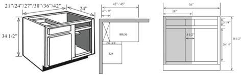 blind corner kitchen cabinet dimensions bl 48 kitchen corner base cabinet with blind 48 quot w x 34 1