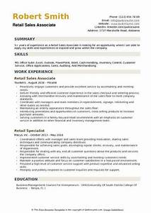 Build Resume Free Download Retail Sales Associate Resume Samples Qwikresume