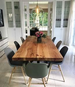 Holztisch Massiv Esszimmer : die besten 25 holztisch baumkante ideen auf pinterest esstisch baumkante esszimmertisch ~ Indierocktalk.com Haus und Dekorationen