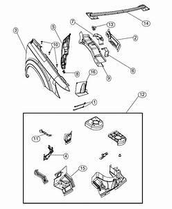 Dodge Journey Bracket  Fender Dog Leg  A Pillar Attach