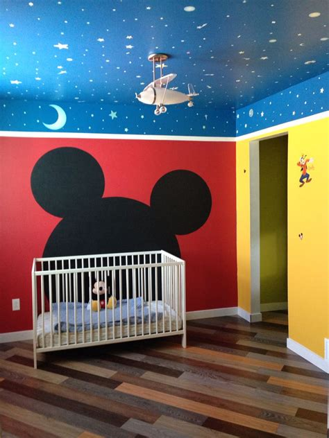 mickey mouse themed toddler room disney kids rooms