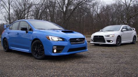 subaru evo not a comparison test mitsubishi lancer evo vs subaru