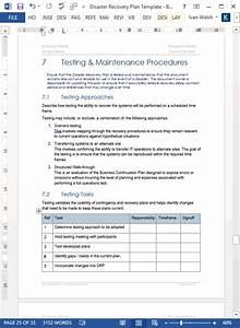 disaster recovery plan template ms wordexcel With disaster recovery plan sample document