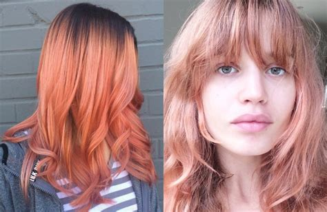 Hair Color by All New Blorange Hair Color Trends 2017 Hairdrome
