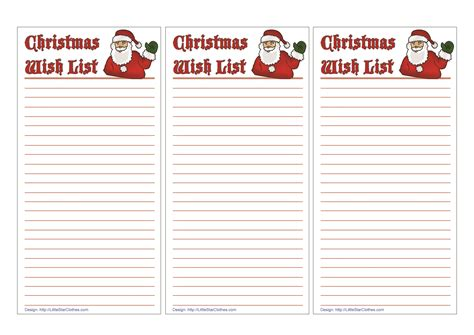 santa wish list template free printable wish list for best ideas of