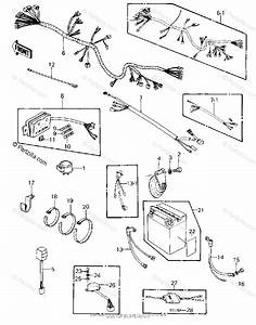 Kawasaki Motorcycle 1982 Oem Parts Diagram For Chassis Electrical Equipment   U0026 39 80