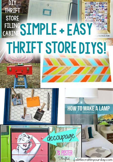 Simple + Easy Thrift Store Diys  A Little Craft In Your Day