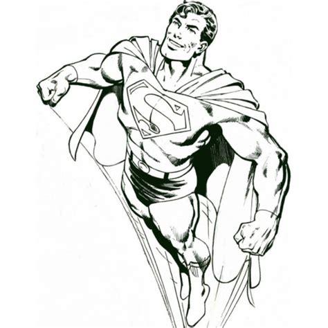 disegno  superman che vola da colorare  bambini