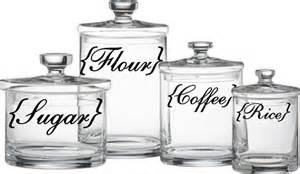 labels for kitchen canisters kitchen canister labels flour sugar coffee rice vinyl decal