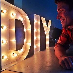 8 steps to diy marquee letters san diego interior designers With how to make light letters