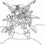 Gundam Coloring Template Deviantart sketch template