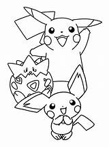 Coloring Pichu Pikachu Pokemon Pages Born Drawing Raichu Printable Getcolorings Getcoloringpages Getdrawings Template sketch template