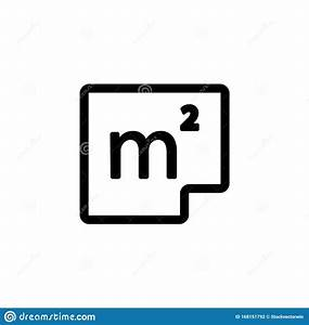 Square, Meter, Icon, Vector, Isolated, Contour, Symbol, Illustration, Stock, Vector