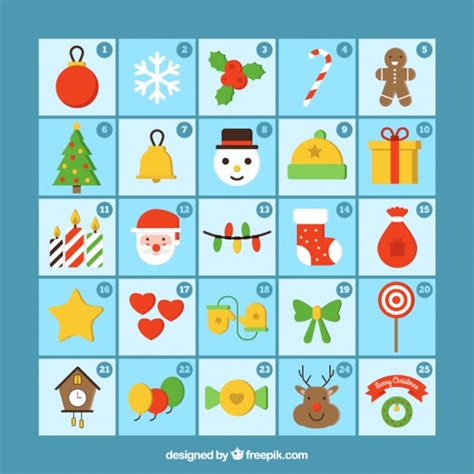 christmas advent calendar template psd christmas calendar template with decorative elements in