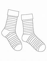 Sock Coloring Socks Drawing Template Striped Pages Syndrome Down Printable Templates Markers Celebrate Silly Getdrawings Ankle Via sketch template