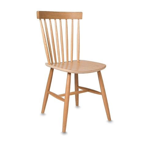 american oak spindle back chair