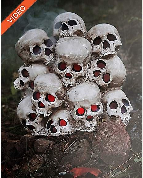 ft fogging skull pile decorations spirithalloweencom
