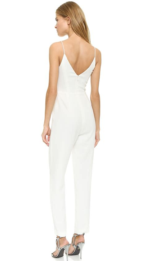 winter white jumpsuit lyst zimmermann crepe braid jumpsuit winter white in white