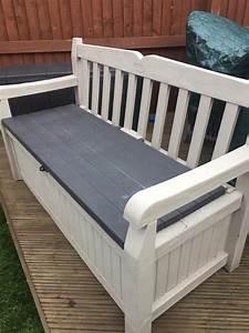 Keter, Eden, Plastic, Garden, Storage, Bench, In, Rotherham, For, U00a320, 00, For, Sale