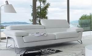 canape cuir 2 places roche bobois table de lit a roulettes With tapis design avec canape convertible roche bobois cuir