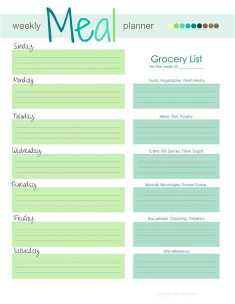 weekly meal planner template  commercewordpress