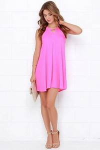 17 Best ideas about Neon Pink Dresses on Pinterest