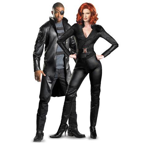 Avengers Nick Fury And Black Widow Couples Costume