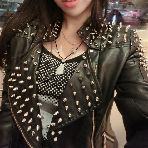 White Leather Studded Jacket Promotion Shop For
