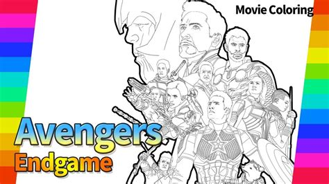 Marvel Avengers Endgame Coloring