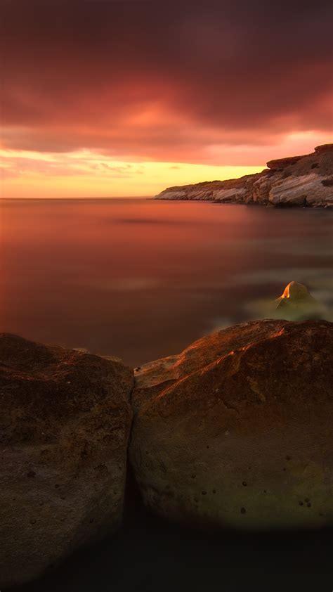Wallpaper Sunset 4k Hd Wallpaper Rocks Sea Ocean