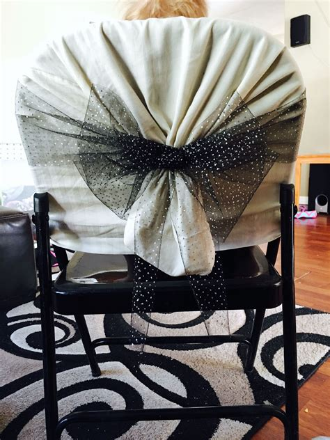 metal chair cover pillow case and tulle diy neat ideas