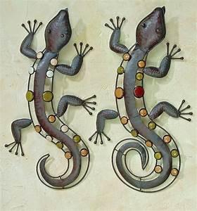 gekko gecko eidechse salamander nizza wanddeko eisen 52 cm With französischer balkon mit gecko deko garten
