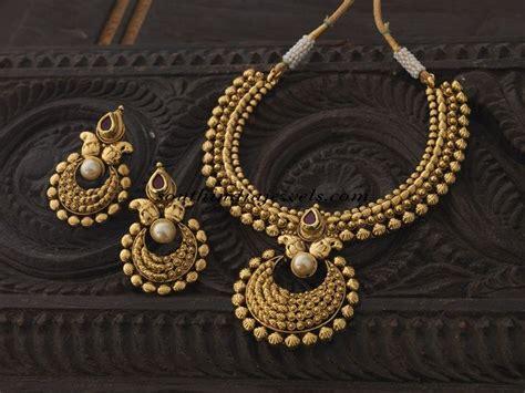 antique necklace set  kushal fashion jewellery south