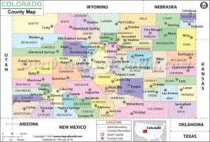 Colorado Map with Counties