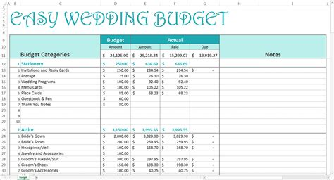 Wedding Spreadsheets Free Wedding Budget Excel Template Savvy Spreadsheets