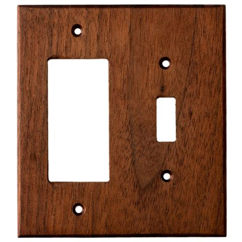 black walnut wood wall plates 2 combo light