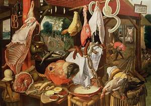 The Meat Stall 1568 painting Pieter Aertsen | Oil Painting ...