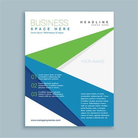 Blue And Green Vector Brochure Flyer Design Template Modern Green And Blue Business Brochure Flyer Design